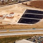 arial picture of the build site